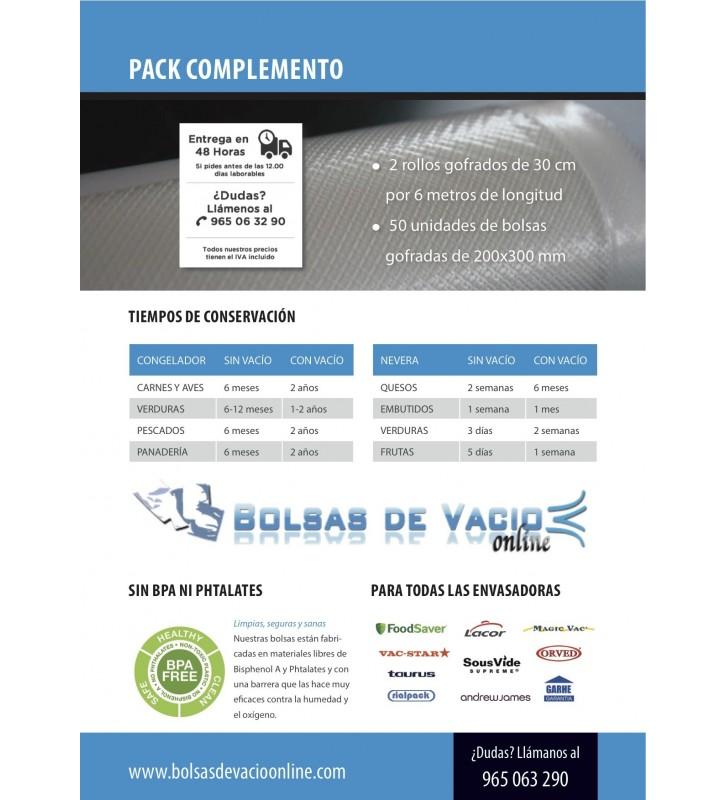 Bolsas de Vacío Gofradas PACK COMPLEMENTO