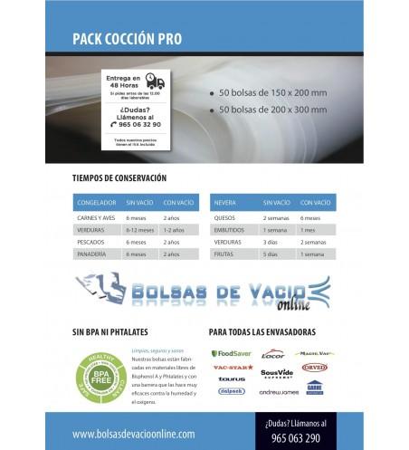 Sacos de cozimento a vácuo PACK 200x300 e 150x200