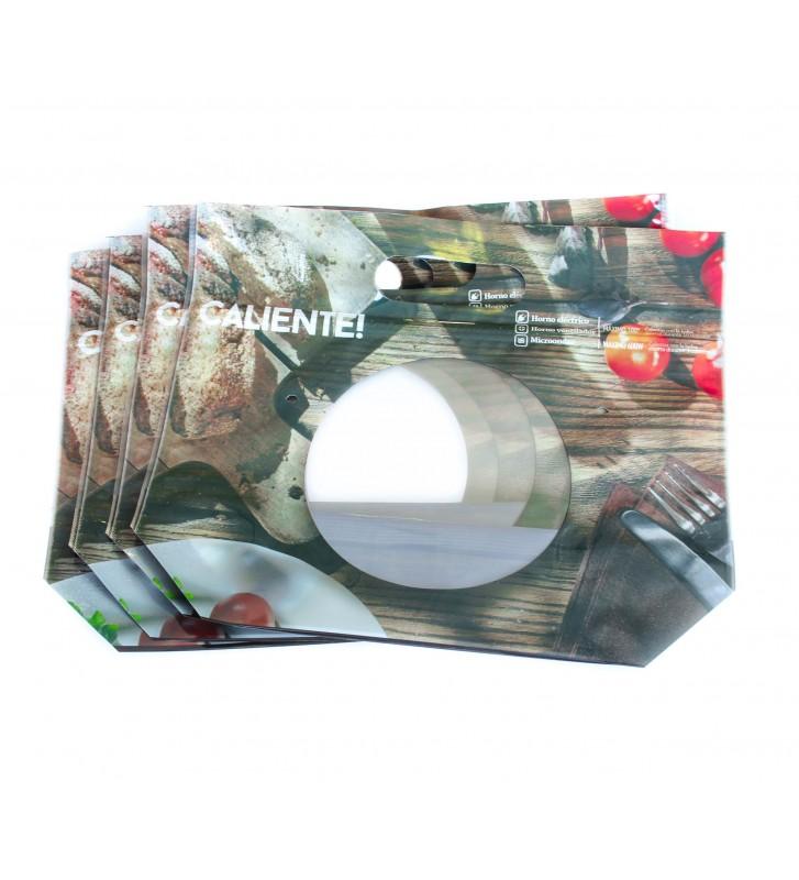 Bolsa impresa 200x300mm (Plata)