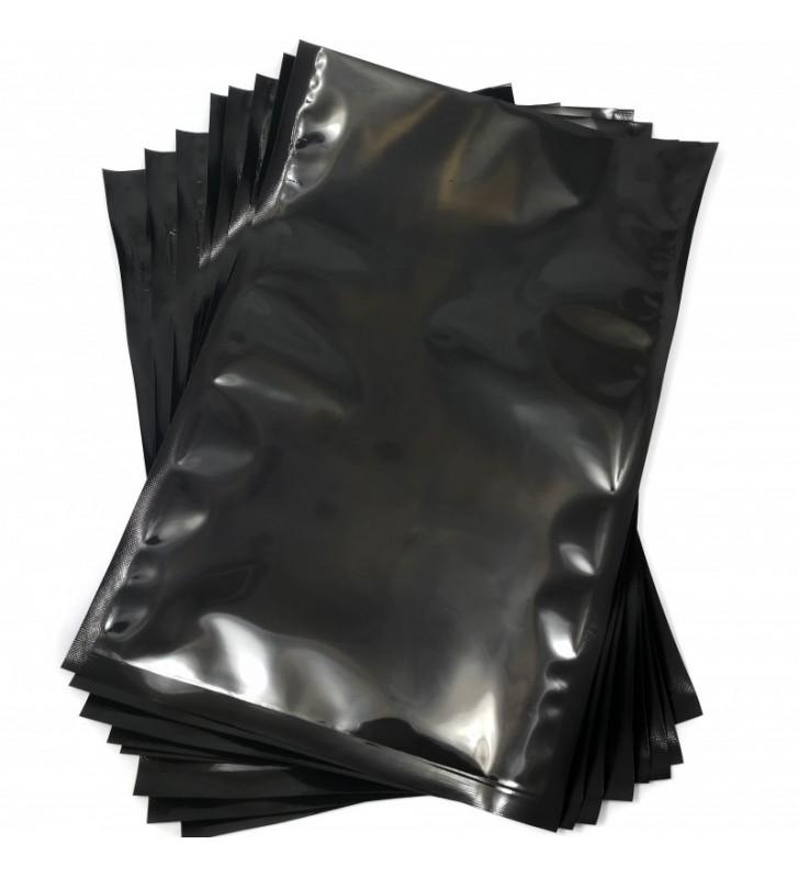 Sacos de vácuo Preto e trasparente 250x350mm (25x35cm)