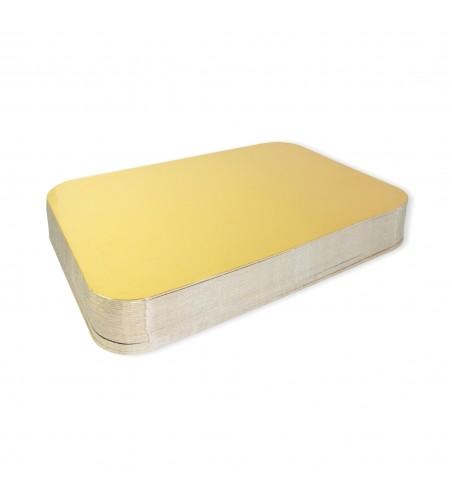 Bandeja cartón oro/plata 170x235 mm. (17x23,5cm)
