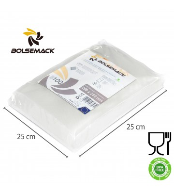 Embossed vacuum sealer bags/pouches 250x250mm (25x25cm)