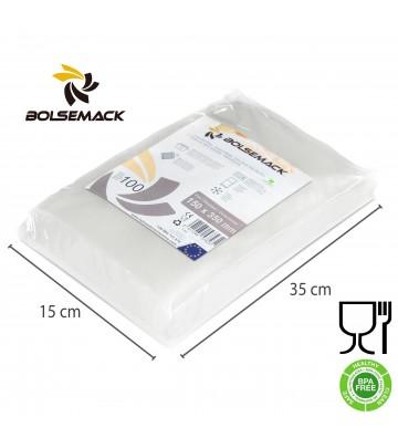 Embossed vacuum sealer bags/pouches 150x350mm (15x35cm)